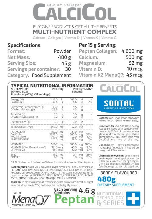 SONTAL-CalciCol-480g Typical Nutritional Info Detailed