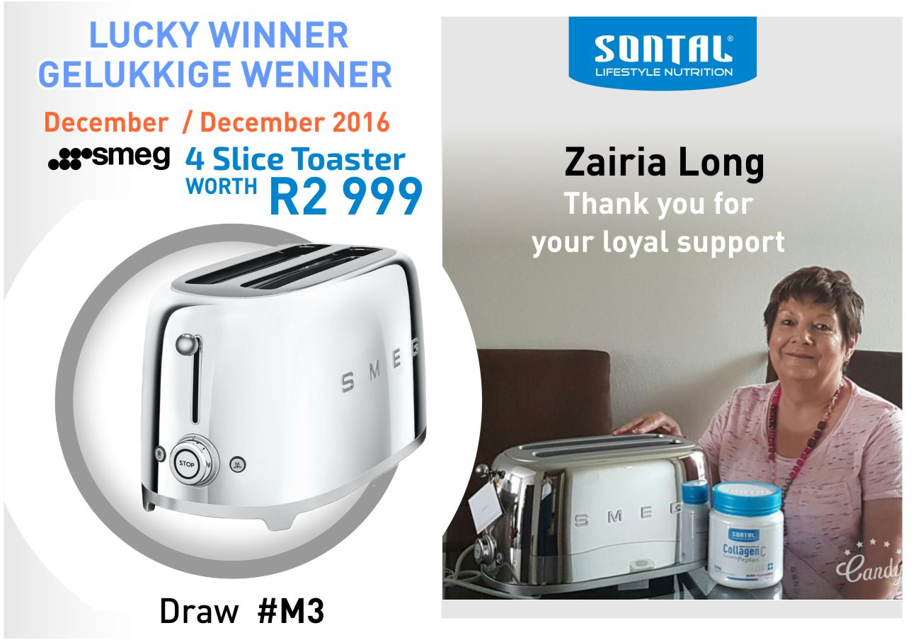 SONTAL Draw December Winner ENG ZL