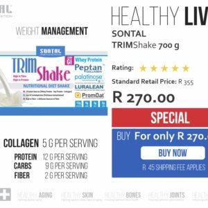 SONTAL TrimShake – Diet Shake VANILLA 700g SPECIAL